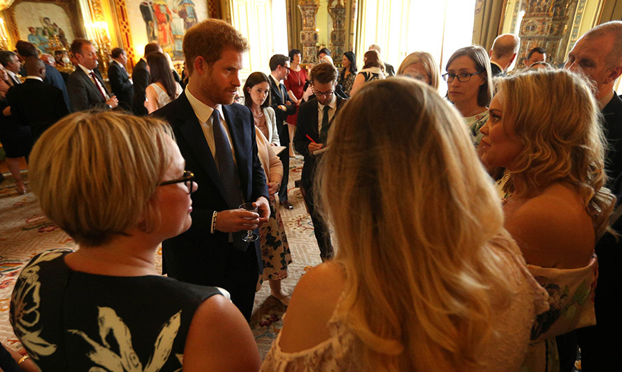Prince Harry meets parents as he hosts a reception at Buckingham Palace to mark the 40th anniversary of the children's charity WellChild at Buckingham Palace.
