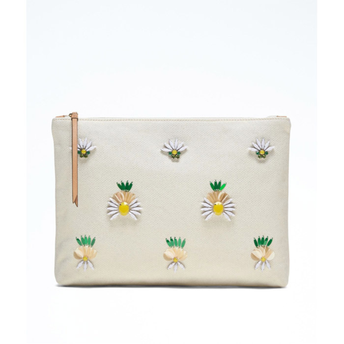 <strong>Pineapple Large Zip Pouch</strong>, $95, <em>Banana Republic.</em>