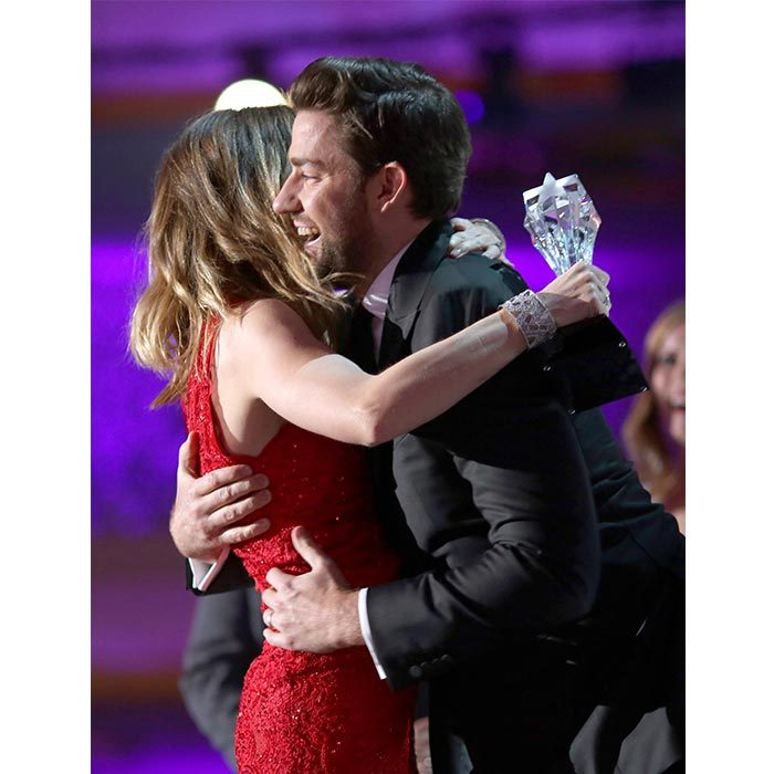 John was right by Emily's side when she picked up a Critics' Choice Award in 2015. 