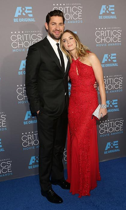 Emily always knows that she can lean on her husband (literally!). The Golden Globe-winning actress rested her head on John's shoulder on the red carpet at the 2015 Critics' Choice Awards. 