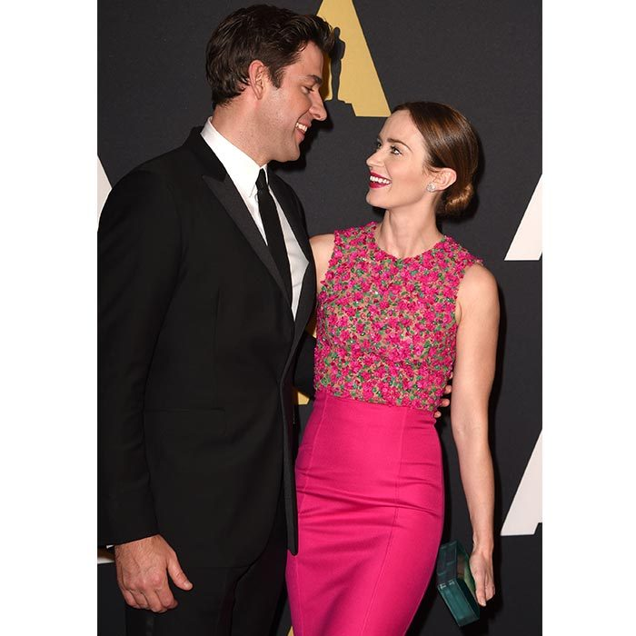 John and Emily shared the look of love at the 2014 Academy Of Motion Picture Arts And Sciences Awards.
