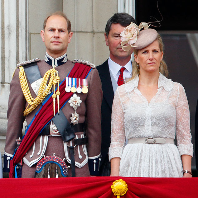"<p><strong><a href=""/tags/0/sophie-wessex"">Sophie, Countess of Wessex</a></strong> looked elegant in lace at the 2014 Trooping the Colour in a semi-sheer white dress with cropped sleeves and a gattered skirt. Her long, blonde hair was styled in waves and her look was completed with a lilac floral hat.</p>