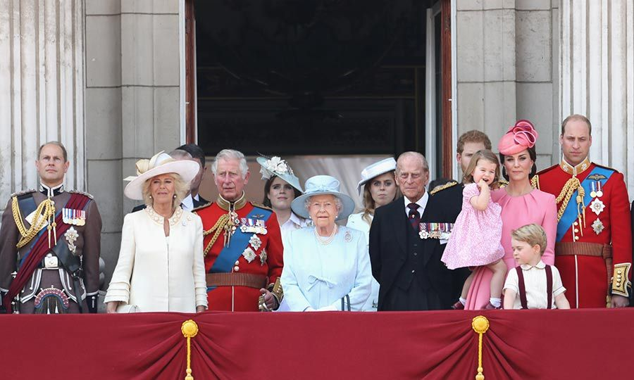 The Queen leads the royal family as they gather on the balcony of Buckingham Palace at Trooping the Colour on Saturday. Her Majesty looked elegant in light blue coat and matching hat. The young royals Prince George and Princess Charlotte clearly loved being part of the celebrations.