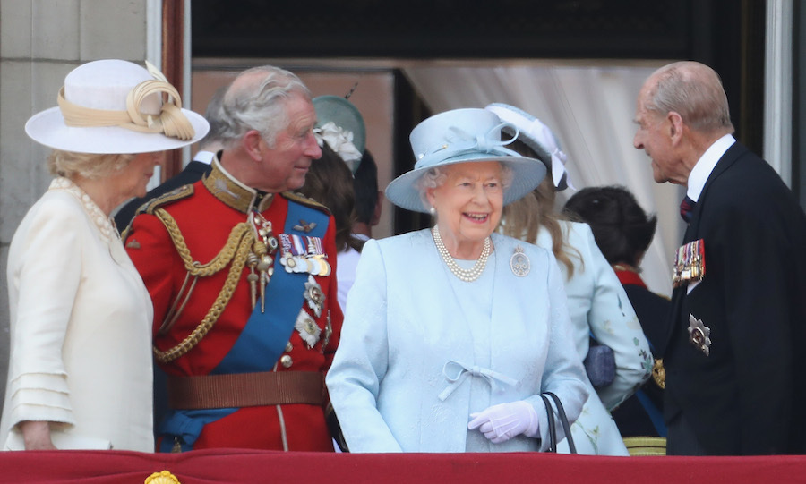 The Queen looked delighted to see so many people gathered outside Buckingham Palace.