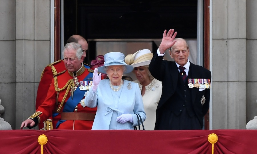 Her Majesty and Prince Philip are always the last to arrive  on the balcony. 