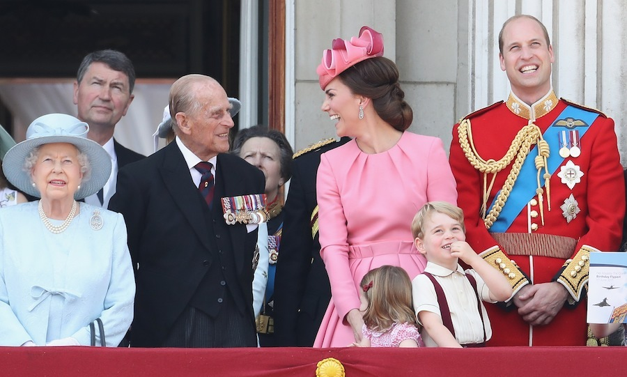 The Duchess of Cambridge shares a laugh with Prince Philip, who turned 96 last week.