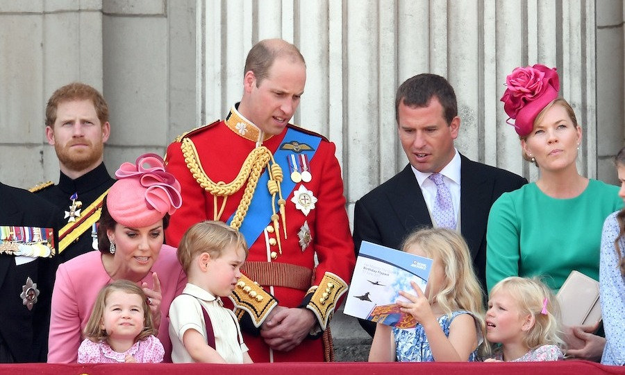 Peter and Autumn Phillips' children Savannah and Isla made their Trooping debut this year. All of the Queen's great-grandchildren helped celebrate her birthday, except for Mia Tindall, who along with her parents Zara and Mike missed the occasion. 