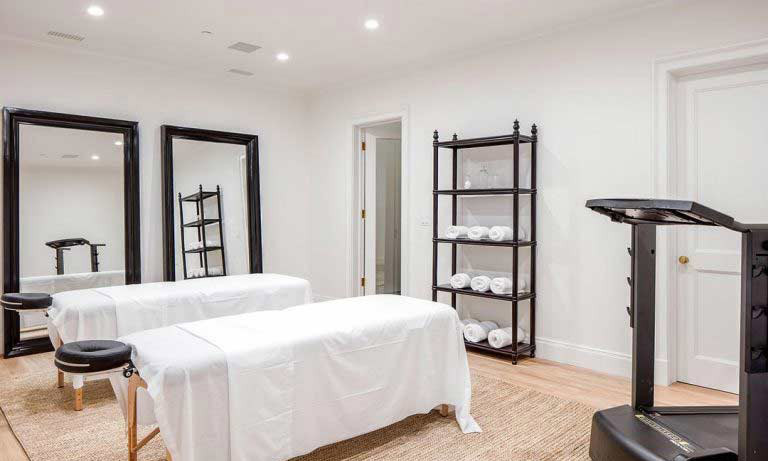 Whoever moves into the house is in for a treat! Lindsey and his wife have added a spa to the home, where there is room for two massage beds along with a treadmill and fitness equipment for the new owners and their guests to relax and work out in privacy.