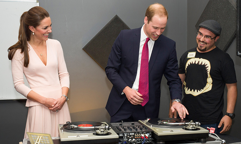 Drop the beat! Prince William tried his hand at spinning the decks at the Northern Sound System during his 2014 tour of Australia.