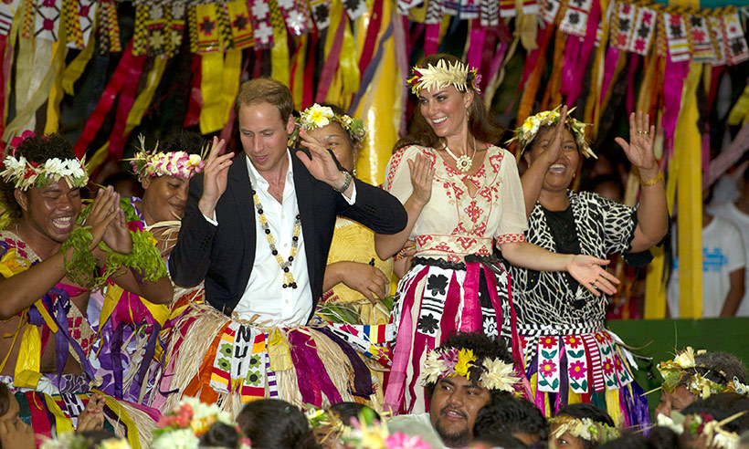 The British royal proved he had rhythm when he participated in a cultural dance with locals in Tuvalu, during the last stop on his nine day Jubilee tour of southeast Asia and the Pacific in September 2012.