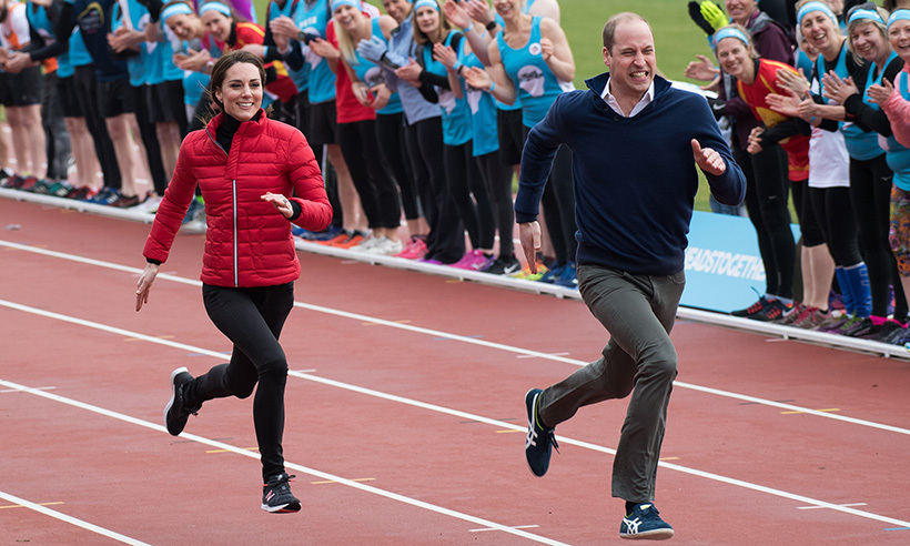 The Duke of Cambridge refused to let his loving wife beat him in a foot race during a London marathon event in February 2017. The couple have stated in the past that they are very competitive. 