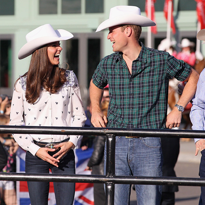 Howdy William! The royal embraced the spirit of the Calgary Stampede during his and Kate's royal tour of Canada in 2011. 