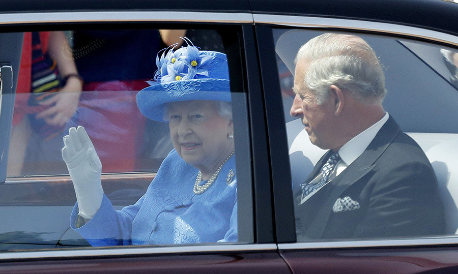 The Queen and Prince Charles leave Buckingham Palace to attend the 2017 State Opening of Parliament.