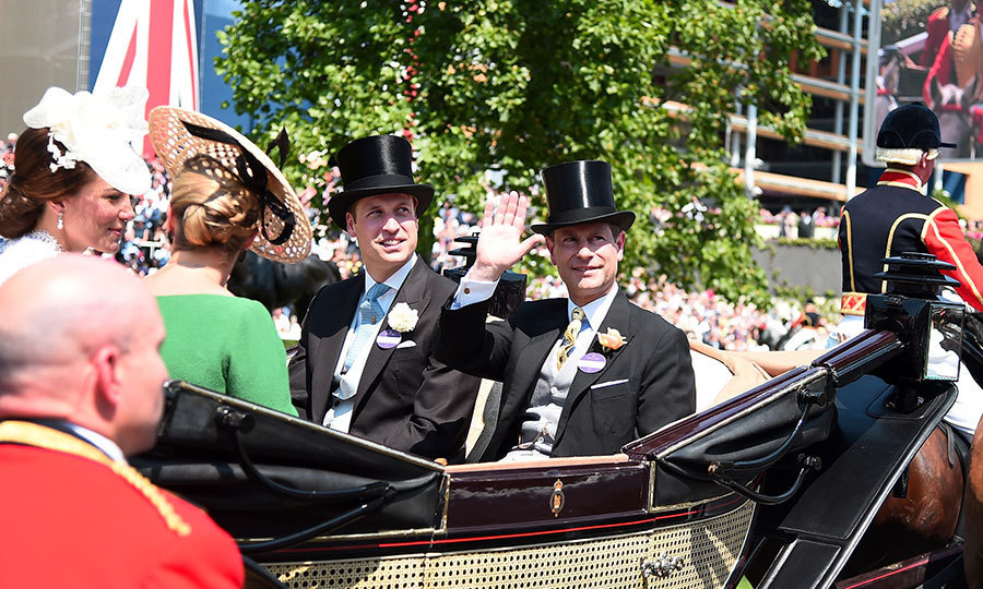 <p>Prince Edward gave a royal wave alongside nephew Prince William. </p>