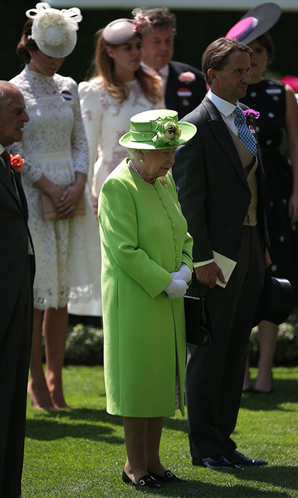 <p>The Queen led the royal family and other guests in a moment of silence to honour the victims and survivors of the recent attacks and tragedies that have taken place in Britain.</p>