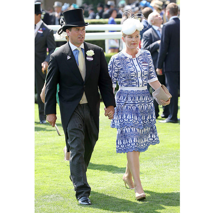 <p>The Queen's grandson Peter Phillips and wife Autumn, who joined their fellow royals on the Buckingham Palace balcony for Trooping the Colour on Saturday, also made an appearance together at Ascot.</p>