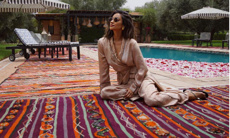 "When she isn't on set, the world is Shay Mitchell's oyster. The Pretty Little Liars actress takes full advantage of travel, which is evident on her Instagram. Most recently, she was able to spend ten days in Morocco. ""It was one of my favorite places,"" she told HELLO!. ""Marrakesh is just magical. Everywhere you look, there are so many colours."" 