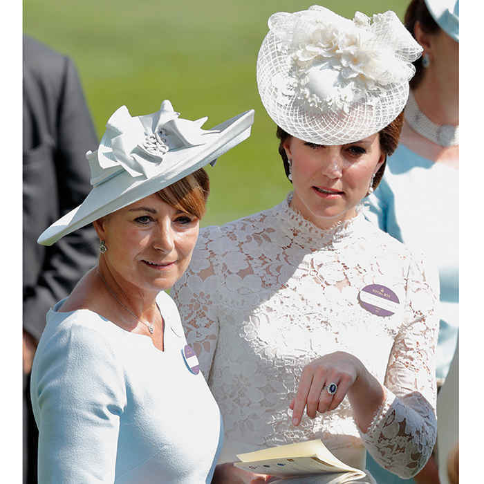 The Middletons are off to the races! The Duchess of Cambridge's mom Carole joined her daughter for Day One of England's Royal Ascot.