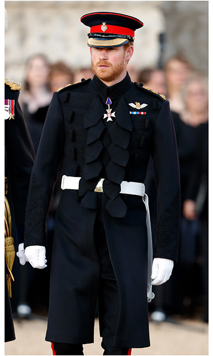 Prince Harry was dashing in uniform at the Household Division's Beating Retreat at Horse Guards Parade in London, England. 'Beating Retreat', which now is synonymous with the annual musical pageant and precision drill, is a reference to a 16th-century military drum call.