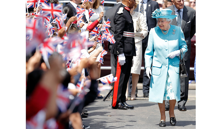 There was no shortage of young royal fans as the Queen visited Mayflower Primary School in London on June 15. 