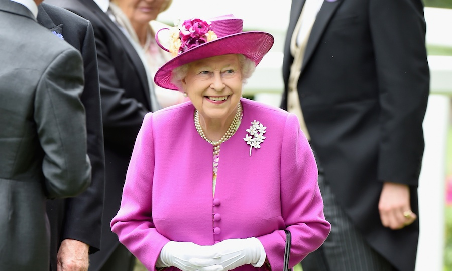 The Queen was all smiles on the fifth and final day of Royal Ascot, despite the disappointment of her horse Dartmouth losing in the Hardwicke Stakes. Always the fashionista, the monarch looked beautiful in a magenta Stewart Parvin coat and matching Rachel Trevor-Morgan hat. Prince Philip did not accompany his wife to the races, as he is still at home recovering from an infection. 