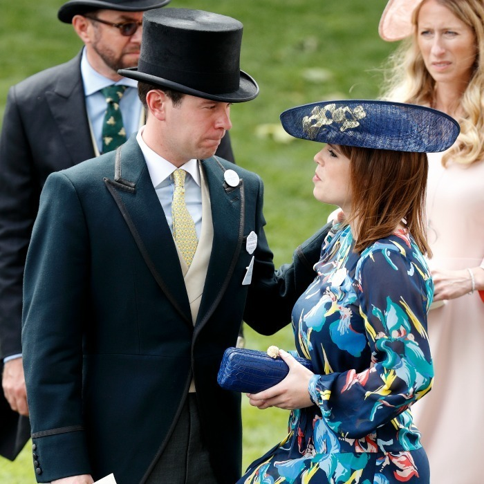 Sarah's daughter Princess Eugenie was accompanied by her boyfriend Jack Brooksbank.