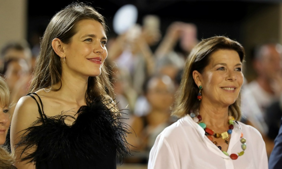 Princess Caroline joined daughter Charlotte Casiraghi at the 2017 Jumping International of Monaco equestrian competition as part of the Global Champions Tour on June 24 in Monaco. 