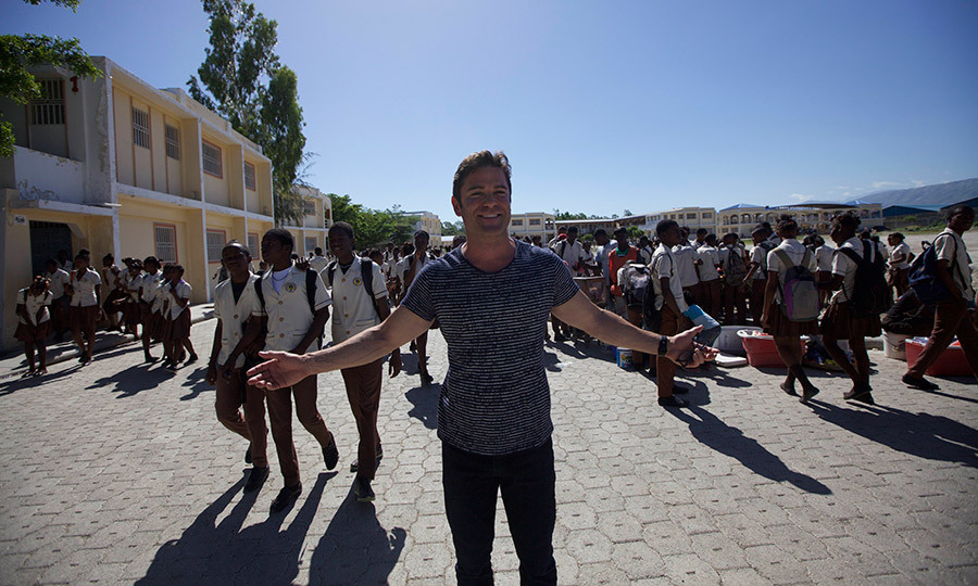 Yannick touches down in Haiti for a visit to the academy for Peace and Justice in Port-au-Prince. During his visit, with wife Shantelle, he also saw an urban art museum and artisan market.