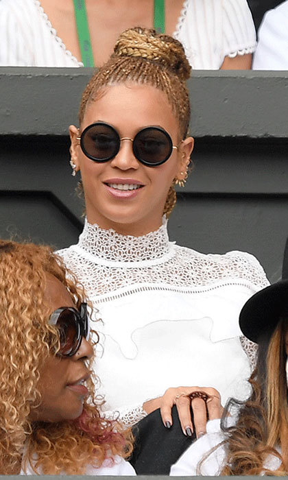 "<p><strong><a href=""/tags/0/beyonce"">Beyonce</a></strong> graced the grounds of Wimbledon in 2016 in a striking white Self Portrait dress, featuring a pretty lace collar. The stand-out design was teamed with a pair of retro-inspired shades.</p>