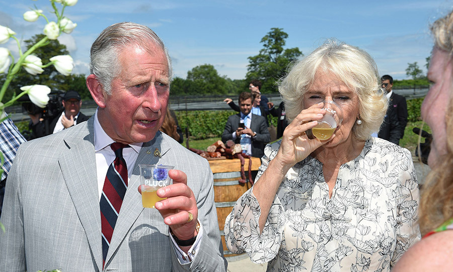 On day two of the royal tour of Canada, Prince Charles and Camila visited the Norman Hardie Winery and Vineyard in Prince Edward County. The couple toured the winery before checking out the local produce at a farmer's market. 