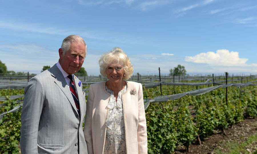 Charles and Camilla toured the vineyard.