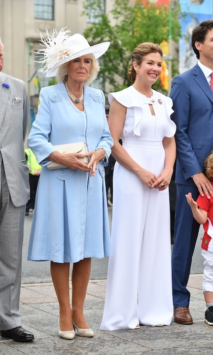 For Canada Day celebrations on Parliament Hill with the Duke and Duchess of Cornwall, Sophie championed Canadian designers in a Tanya Taylor jumpsuit, Dean Davidson and Hillberg and Berk accessories and Aldo shoes. 