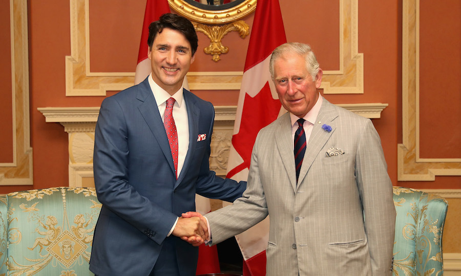 Prime Minister Justin Trudeau officially welcomed Prince Charles to Canada during a meeting at Rideau Hall.
