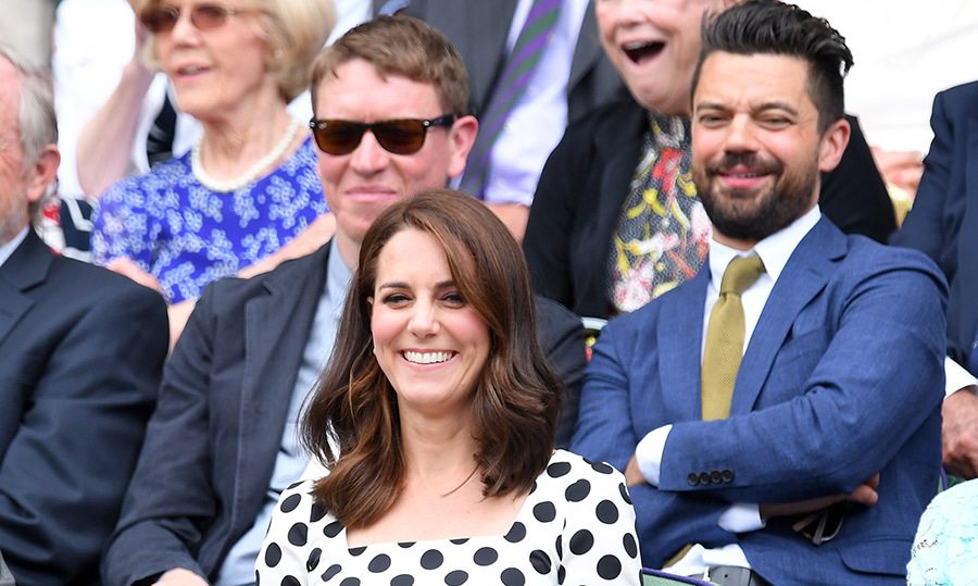 Kate sat in the Royal Box with <em>Preacher</em> star Dominic Cooper. 