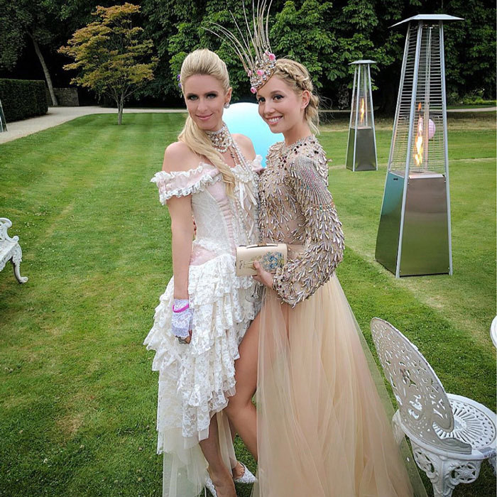 Nicky Hilton attended Olympia's birthday in England.