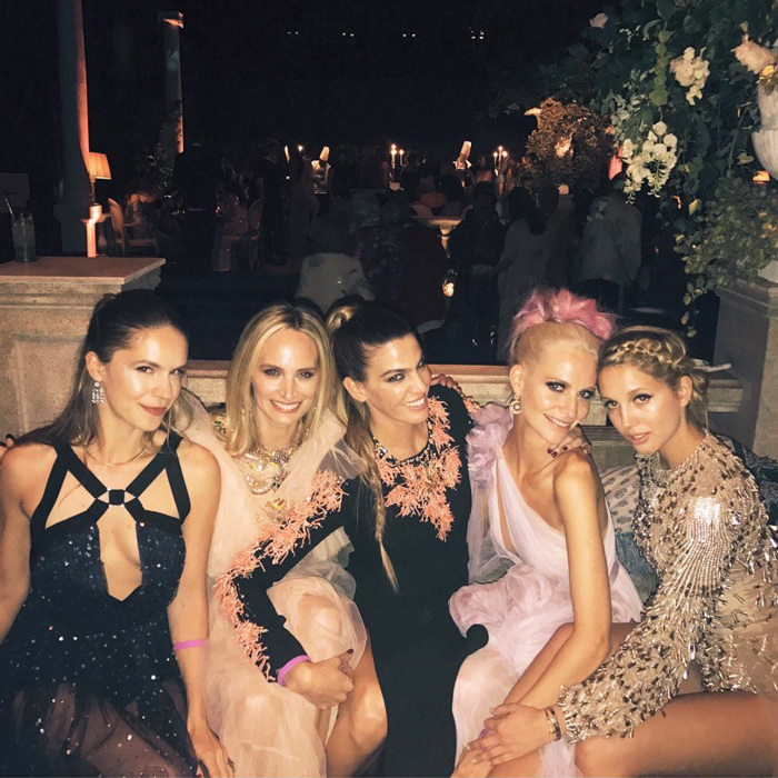 """Oh what a night...! ✨ 21 has never looked better @olympiagreece WE LOVE YOUUUU @mariechantal22,"" Poppy Delevingne (second from the right) wrote alongside a picture from the royal-studded soirée.