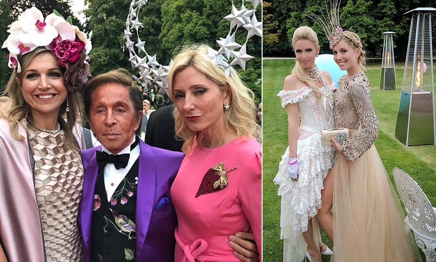 "Princess Olympia and her father Crown Prince Pavlos celebrated their milestone birthdays with a joint celebration over the weekend. The father-daughter duo were treated to a royal-studded party held at a manor in Gloucestershire on Saturday. The masquerade soirée, whose theme was ""Prince and the Revolution,"" was attended by a number of European royals including Queen Maxima of the Netherlands and Norway's Crown Prince Haakon and Crown Princess Mette-Marit and Rosario Nadal — the wife of Prince Kyril of Preslav.