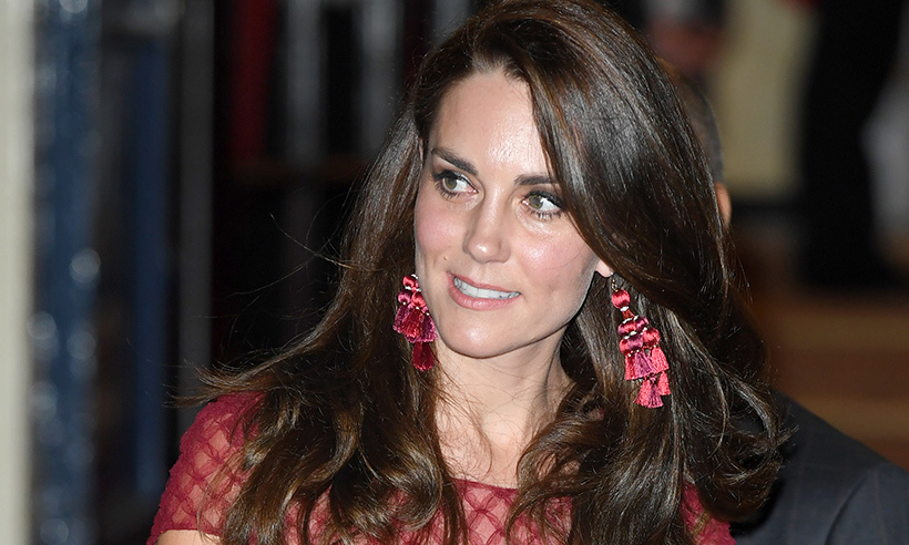 Kate Middletons Red Lace Marchesa Dress Back In Stock