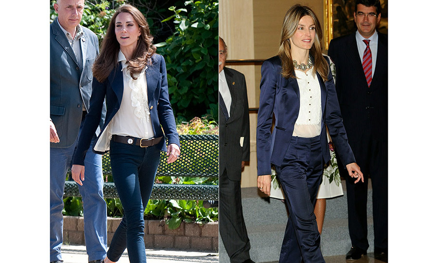 <p>Off-duty, these queens of style are still on the same wavelength, favouring unfussy but classic co-ordinates: skinny jeans and crisp white blouses, or Breton tops teamed with sharp, tailored blazers – a perfect combination for these busy working mums.</p>