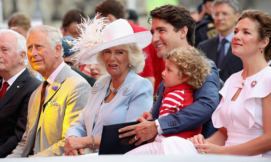 Prince Charles and his wife Camilla, Duchess of Cornwall were seated next to Prime Minister Justin Trudeau and his wife Sophie Grégoire for Canada Day celebrations on Parliament Hill during the royals' 3-day official visit to Canada on July 1 in Ottawa.