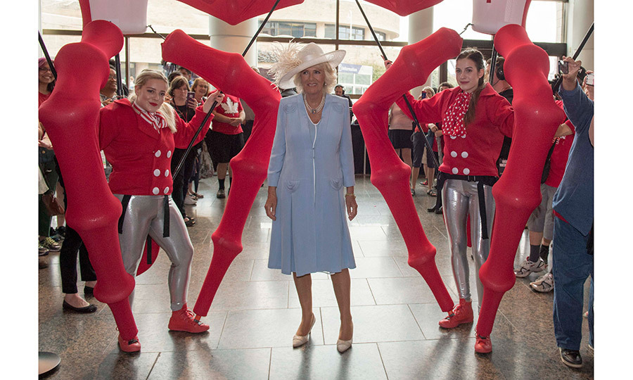 Camilla, Duchess of Cornwall got a taste of the 'buy and eat local' movement during a visit to Wellington Farmer's Market in Prince Edward County on July 1.