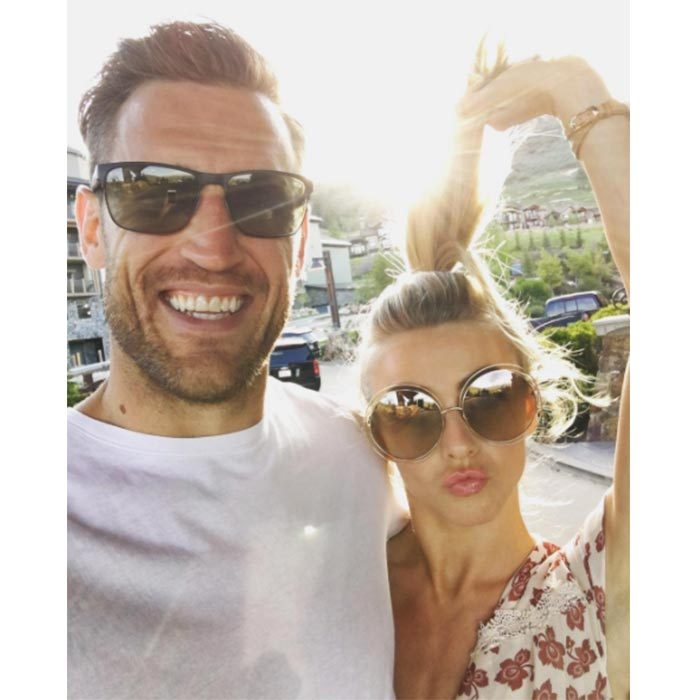 Date night! The lovebirds stopped to pose for a goofy photo while out on the town in 2016. 