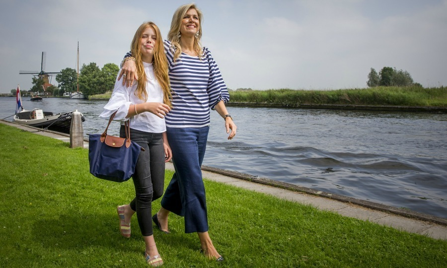Queen Maxima and her daughter Princess Alexia looked fresh out of the pages of a style catalogue during their nautical-themed summer photoshoot in The Netherlands. 