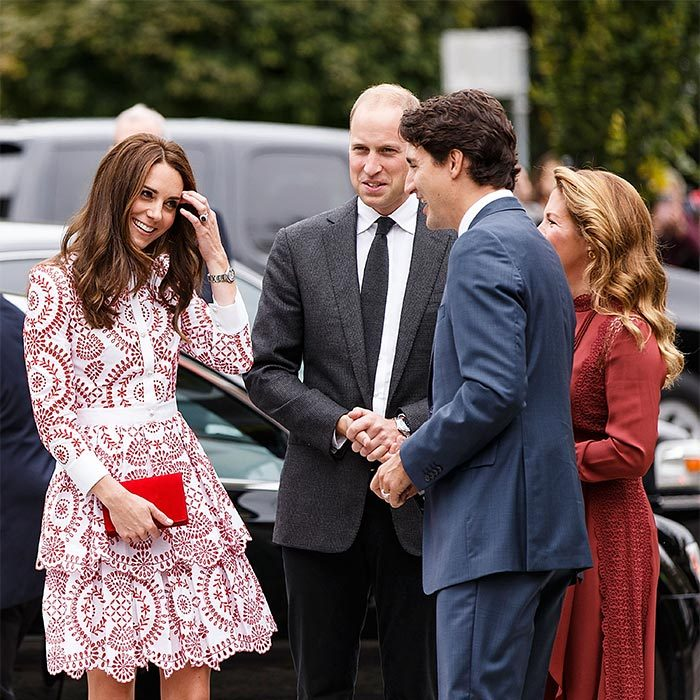 <p>Like her husband Prince William, the Duchess of Cambridge was all smiles while hanging out with Justin at the Immigrant Services Society of British Columbia in Vancouver in September 2016.