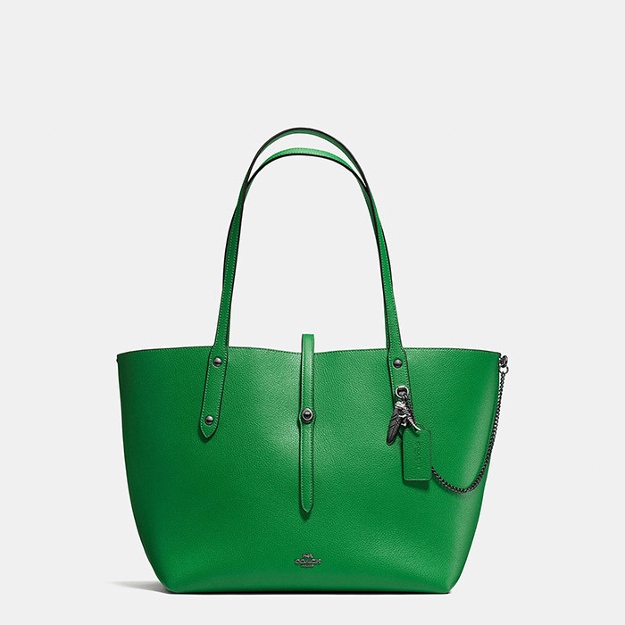 <p><strong>Coach Rebel Charm Pebbled Leather Market Tote</strong>, $385, at Hudson's Bay, <em>thebay.com</em></p>