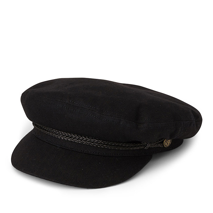 <p><strong>Brixton Sailor Cap in Black</strong>, $45, <em>simons.ca</em></p>