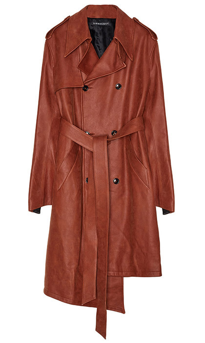 <p><strong>Y/Project Leather Trench Coat</strong>, $2,050, <em>en.km20.ru</em></p>