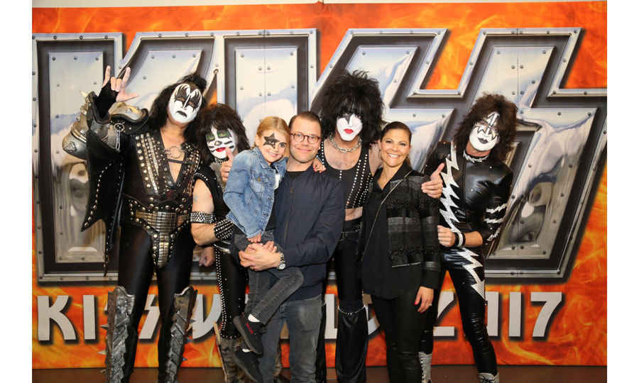 "It was a rockin' night for the five-year-old when her parents took her to see KISS in Stockholm on May 6. Estelle even had Paul Stanley's iconic star painted on her face for the concert. After, the Swedish royals met the band and Paul told HELLO!, ""It was an honor to meet the Crown Princess and her wonderful family. Knowing that their daughter Estelle's favorite song is Detroit Rock City assures me that they too 'Rock & Roll All Nite and Party Everyday!'""