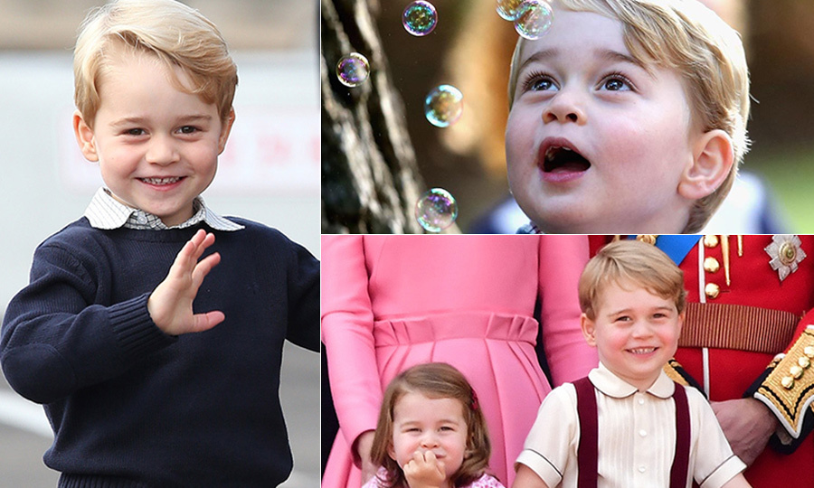 Planes and helicopters, royal pup Lupo, Princess Charlotte and dinosaurs – these are just a few of Prince George's favourite things! 