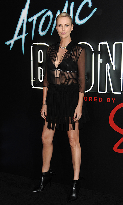 Charlize Theron was sheer perfection in Dior at the Atomic Blonde premiere at The Theatre at Ace Hotel on July 24 in L.A.